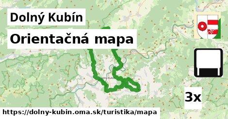 orientačná mapa v Dolný Kubín
