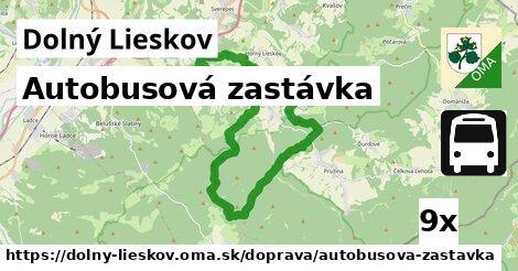 ilustračný obrázok k Autobusová zastávka, Dolný Lieskov