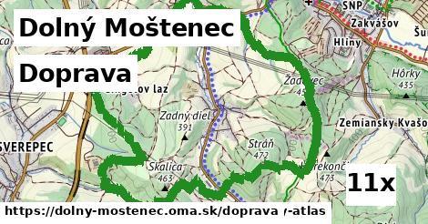 doprava v Dolný Moštenec