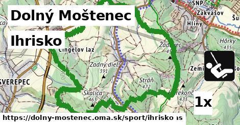 ihrisko v Dolný Moštenec