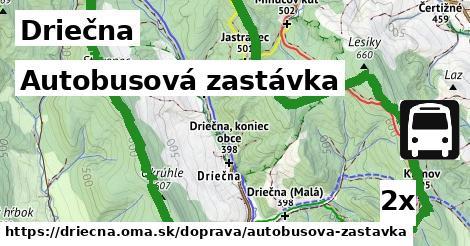 autobusová zastávka v Driečna