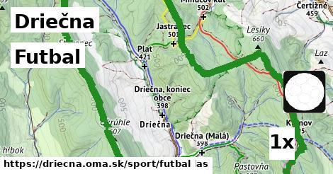 futbal v Driečna