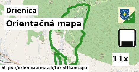 orientačná mapa v Drienica