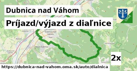 príjazd/výjazd z diaľnice v Dubnica nad Váhom