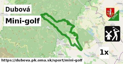 mini-golf v Dubová, okres PK