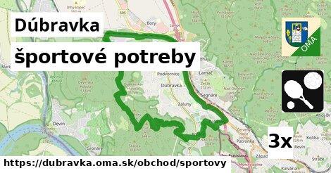 ilustračný obrázok k športové potreby, Dúbravka