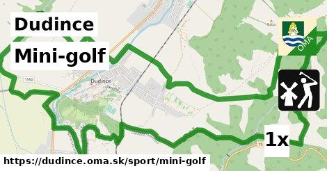 mini-golf v Dudince