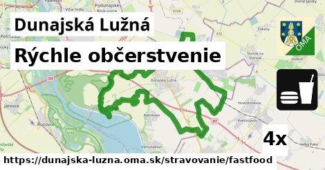 rýchle občerstvenie v Dunajská Lužná