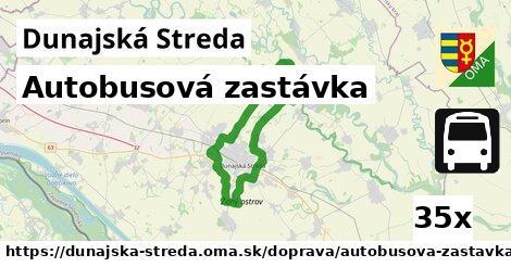 autobusová zastávka v Dunajská Streda