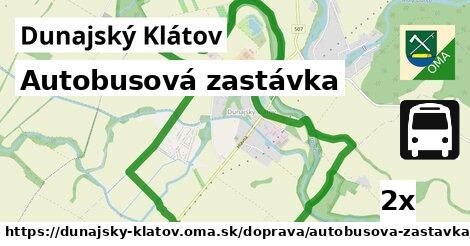 ilustračný obrázok k Autobusová zastávka, Dunajský Klátov