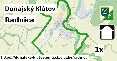 ilustračný obrázok k Radnica, Dunajský Klátov