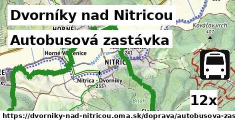 autobusová zastávka v Dvorníky nad Nitricou