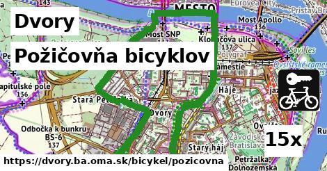 požičovňa bicyklov v Dvory