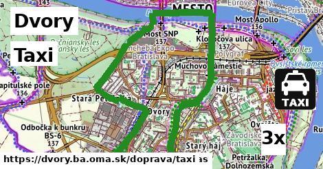 taxi v Dvory