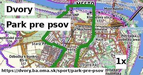 park pre psov v Dvory