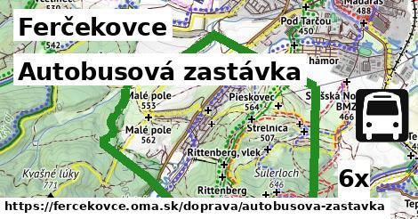 autobusová zastávka v Ferčekovce