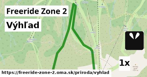 výhľad v Freeride Zone 2