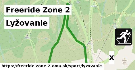 lyžovanie v Freeride Zone 2