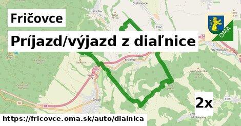 ilustračný obrázok k Príjazd/výjazd z diaľnice, Fričovce