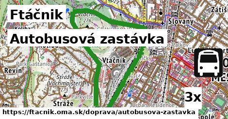 autobusová zastávka v Ftáčnik