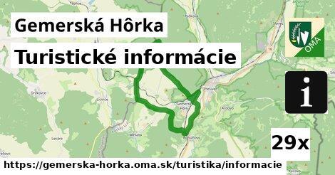 ilustračný obrázok k Turistické informácie, Gemerská Hôrka