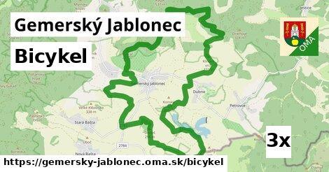 bicykel v Gemerský Jablonec