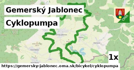 cyklopumpa v Gemerský Jablonec