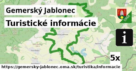 turistické informácie v Gemerský Jablonec