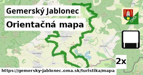 orientačná mapa v Gemerský Jablonec