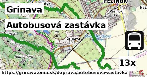 autobusová zastávka v Grinava