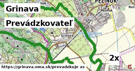 prevádzkovateľ v Grinava