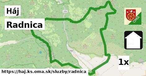 ilustračný obrázok k Radnica, Háj, okres KS