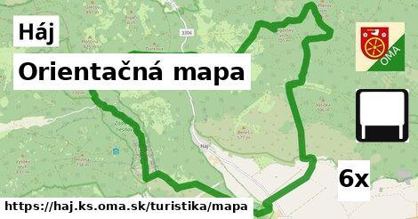 ilustračný obrázok k Orientačná mapa, Háj, okres KS