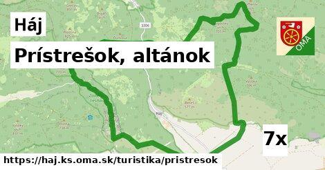 ilustračný obrázok k Prístrešok, altánok, Háj, okres KS