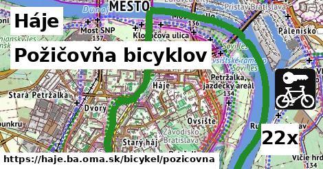 požičovňa bicyklov v Háje