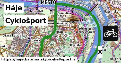 cyklošport v Háje