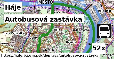 autobusová zastávka v Háje
