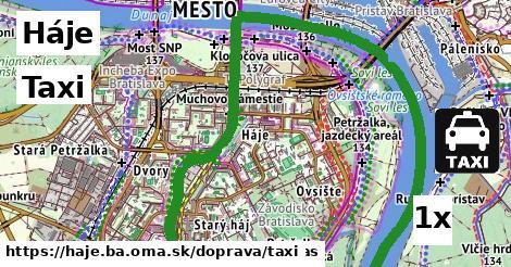 taxi v Háje