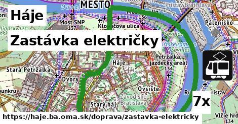 zastávka električky v Háje