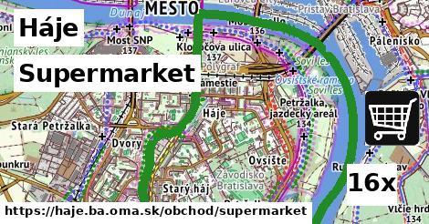 supermarket v Háje