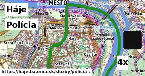 polícia v Háje
