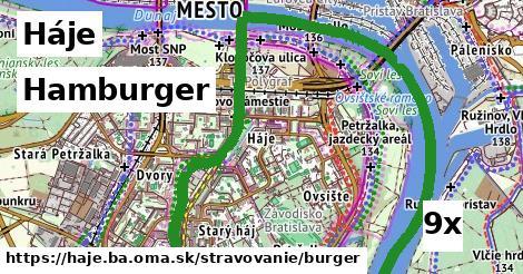hamburger v Háje
