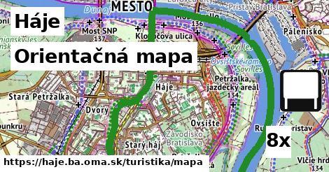 orientačná mapa v Háje