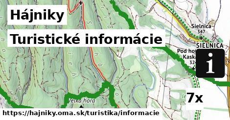 turistické informácie v Hájniky