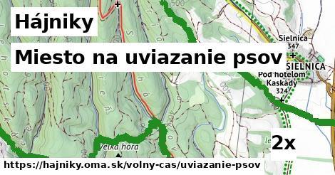 miesto na uviazanie psov v Hájniky