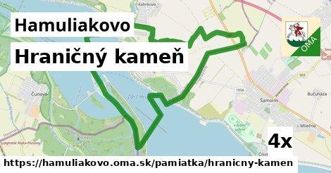 hraničný kameň v Hamuliakovo