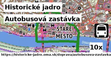 ilustračný obrázok k Autobusová zastávka, Historické jadro