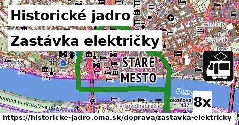 ilustračný obrázok k Zastávka električky, Historické jadro