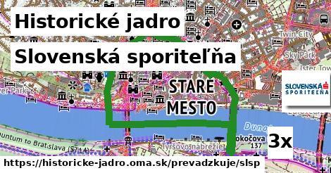 ilustračný obrázok k Slovenská sporiteľňa, Historické jadro