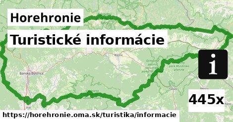 ilustračný obrázok k Turistické informácie, Horehronie